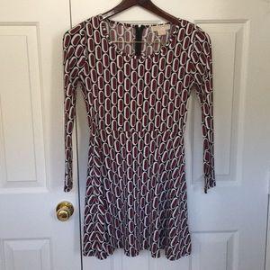 Printed long sleeved dress